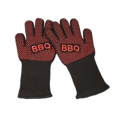 SIWEI Barbecue Gloves Heat Proof Oven Gloves Heat Resistant 350℃ Grill Gloves Silicone Anti-slip Oven Gloves