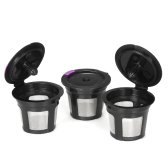 3pcs/set Reusable K-cup Coffee Capsule for Keurig 2.0 & 1.0 Brewers Refillable Coffee Filters