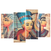 HD Printed 4-Panel Unframed Egyptian Wall Painting Pattern Canvas Painting Wall Art Modular Pictures Decor for Home Living Room Bedroom Office
