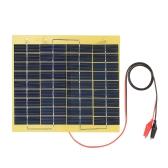 5W 18V Polycrystalline Silicon Solar Panel с аллигаторными зажимами Наружное портативное зарядное устройство для аккумулятора 12 В