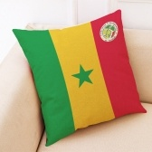 The 2018 World Soccer Cup Home Decor Cushion Cover Linen Sofa Design Throw Pillow Case Gift Style 1