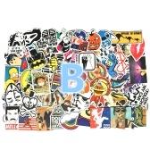100 pcs Rétro Classique Moteur Affiche Étanche Personnalisé Scrabble Valise Vintage Autocollants Skateboard Bagages Frigo Téléphone Styling Accueil Jouet Autocollant (Style B)