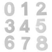 1 piezas de gran tamaño del molde 0-9 números de la torta