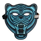 Aktywowana głosem maska LED aktywowana głosem