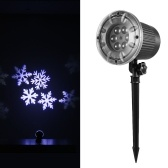 Projection Light Animated Led Projector White Snowflake Projector Lights