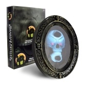 Scary Haunted Mirror Movement Activated Sound Haunted Mirror Luminous Prop for Halloween