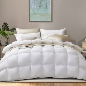 ABODY White Duck Down Quilt Enlarged 1.8m 90*90in Extra Soft Warm Cozy Thickened Winter Quilt