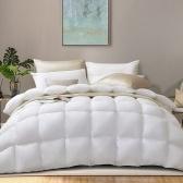 ABODY Colcha de Pato Branco Ampliada 1.8m 90 * 90in Extra Suave Quente Aconchegante Colcha de Inverno Espessa