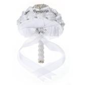 Spilla da sposa fatta a mano da 24 cm con strass