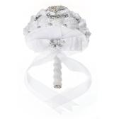 Ramo de novia de diamantes de imitación hecho a mano de boda de 21 cm
