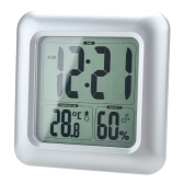Humedad de la LCD agua resistente a la ducha reloj baño cocina pared reloj temperatura medida con ventosa