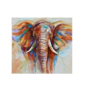 "32""*32"" Hand Painted Oil Painting Elephant Unframed Canvas Wall Picture Wall Decoration Paintings Beautiful Room Decoration 80*80cm Painting Home Decoration Housewarming Gift"