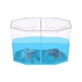 Small Fish Tank Aquarium Betta Box Breeder House with Divider Acrylic Transparent