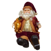 35CM Sitting Santa Claus Toy Figurine Christmas Decoration Charm Father Doll Christmas Gift Restaurant Store Furniture Ornament Display Festival Celebration