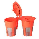 2 pcs / set Réutilisable K-tasse Café Capsule pour Keurig 2.0 K200 K300 K400 K500 Brewing Machines Rechargeable Café Filtres