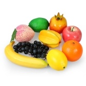 Pack de 9 Fruits Réalistes Ensemble Artificielle Réaliste Mixte Fruits Maison Cuisine Décorations Photographie Props