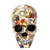 1Pcs Colorful Resin Human Skeleton Collectible Home Bar Table Decoration Cluster Flower Horror Decorative Craft Mask