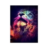 12 * 16 inches/30 * 40cm DIY Full 5D Diamond Painting Kit Color Lion Resin Rhinestone Mosaic Embroidery Cross Stitch Craft Home Wall Decor
