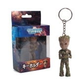 Хранители Галактики Том. 2 Lovely Tree Man Groot Key Ring Cute Baby Grunt Key Chain Action Figure Подвеска Groot Ornament