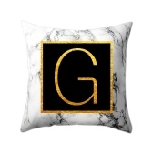 Modern Pillowcases 45 * 45 Gold Alphabet Word Letter bianco marmo modello cuscino