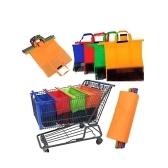4pcs / set addensano le borse di stoccaggio della gru a benna della drogheria del supermercato del carrello del carrello del colpo