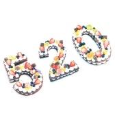 1 Pcs Grand Nombre Moule 0-9 Numéros Gâteau