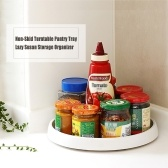 Non-Skid Turntable Pantry Tray Lazy Susan Storage Organizer