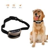 犬の反吠え声のつばの調節可能なつばのビープ振動の衝撃訓練のつばの小さい中型の大きい犬のためのLCDスクリーン表示