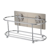 Adhesive Shower Caddy No Drilling 22 Lbs Bearing Weight Bathroom Shelf