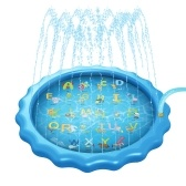 Splash Pool 68 inch Sprinkler Pad Outdoor Splash Mat Wading Swimming Pool for Kids