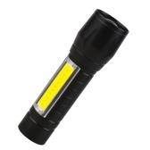 Mini linterna ultra brillante 120 lúmenes portátil al aire libre pequeña linterna LED T6 linterna hogar foco ajustable COB luz de flash de mano USB recargable