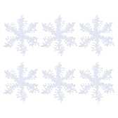Рождественские белые снежинки