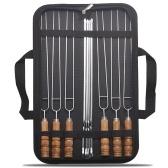 Палочки для шашлыка для барбекю 10шт с сумкой для хранения