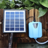 Solar Powered/DC Charging Oxygenator Water Oxygen Pump Pond Aerator with 1 Air Stone Aquarium Airpump 2L/min
