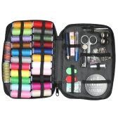 Kit de costura con 97 accesorios de costura 24 colores Assorted carretes de hilo 30 agujas Suministros de costura para viajes reparación de emergencia y bricolaje artesanía