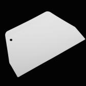 キッチンベーキングバタースクレーパープラスチック白台形ケーキペストリースパチュラバター生地スクレーパーケーキツール