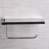 Stainless Steel Wall Mount Mobile Phone Paper Towel Rack Simple Toilet Tissue Box Bathroom Paper Holder