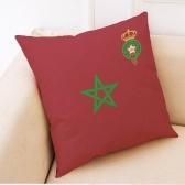El 2018 World Soccer Cup Home Decor Funda de cojín de lino Sofá Diseño Throw Pillow Case Gift Style 1