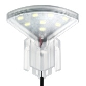 USB Aquarium LED Fan-shaped Clamp Lamp with 8pcs High Light SMD5730 LEDs Fish Tank White Light