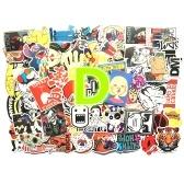 100шт Ретро классический плакат двигателя Водонепроницаемый Custom Scrawl Чемодан Винтаж наклейки Скейтборд Батарея Холодильник Телефон Стиль дома стикер игрушка (Стиль D)