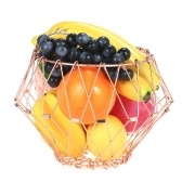 Transforming Flexible Wire Basket for Fruit Bread or Decorative Items