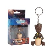 Guardians of the Galaxy Vol. 2 Lovely Tree Man Groot Key Ring Cute Baby Grunt Key Chain Action Figure Pendant Groot Ornament