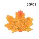 50 pezzi di simulazione impianto fotografico sparare puntelli falso seta autunno foglie d