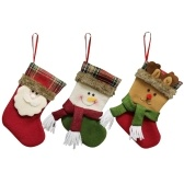 3pcs/set Cute Christmas Hanging Stockings