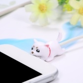 Cubierta protectora de carga USB para cable Animal Cute Bite