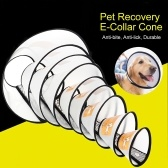 Pet Dog Recovery Collar Cone E-Collar Remedy Adjustable Protective Collar Anti-bite Anti-lick for Dogs Cats Pets