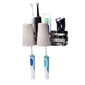 Titular Escova de Dente Titular Creme Dental Toalhete Multifuncional Hardware Banheiro Acessório Adhensive Montagem Na Parede Pasta de Dente Holer Organizador