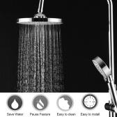 Pulverizador portátil redondo superior da cabeça de chuveiro de aço inoxidável