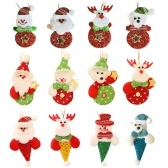 Christmas Decorations, Santa Claus, Snowman, Elk, Bear Doll Pendant Christmas Festival Family Party Atmosphere Dress Up Props