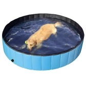 80*20cm Foldable PVC Dog Cat Pet Swimming Pool Pet Dog Pool Bathing Tub Kiddie Pool